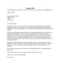 Cover Letter Sales Representative Cover Letter For Sales