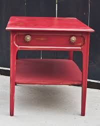 modernly shabby chic furniture wine red end tablenightstand