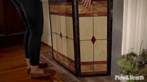 mission stained glass fireplace screen sku 66a68 plow hearth