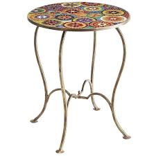 mosaic accent table pier 1 imports tables kenzie
