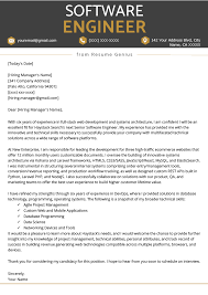 Experienced Professional Cover Letter Software Engineer Cover Letter Example Writing Tips