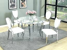 glass dining table sets 6 round kitchen set chairs dinin