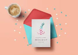 Free Holiday Photo Greeting Cards Free Holiday Greeting Card Mockup Mockuptree