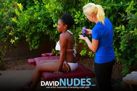 David Nudes Alli Nude Massage Big Boobs Get Rubbed Down Outside In.