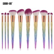 unicorn brush sets. 10pcs extremely soft synthetic makeup brush set make up brushes eyeshadow blusher foundation cream powder blending set-in underwear from mother \u0026 kids unicorn sets r