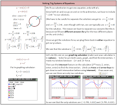 solving systems of equations with trig
