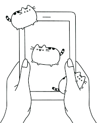 Coloring Pages Pusheen Coloring Pages That You Can Print Food Free
