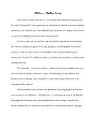 reflective essay english class spanish midterm reflection essay spanish midterm reflection essay english reflective essay example fawmyipme