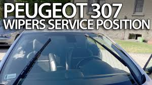 how to set wipers to service position peugeot 307 replace windscreen wiper blades you