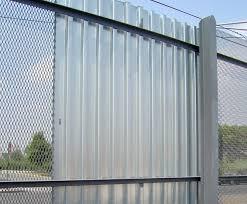 metal fence designs. Corrugated Metal Fence Designs E