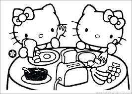 Cartoon Cat Coloring Pages Hello Kitty Coloring Sheet Free Printable
