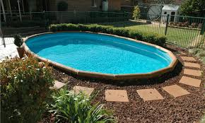 image of above ground pool landscaping simple