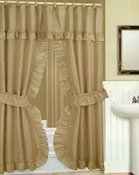 Amazoncom Double Swag Shower Curtain With Liner Set Taupe Tan