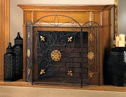 wrought iron fireplace screens decoration wrought iron fireplace screens heavy wrought iron fireplace screens