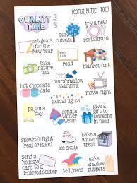 Winter Qualität Zeit Aufkleber Sticker Saisonale Zeit Mit Etsy