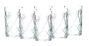 whole 8 oz glassware everyday water glasses tall skinny drinking for