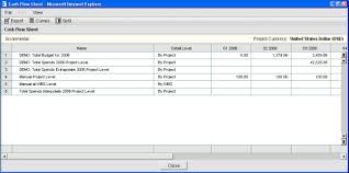 Cash Flow Sheets View Project Or Shell Cash Flow Data From Multiple Sheets In