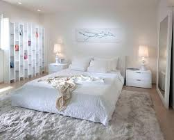 Bed On Floor Ideas Awesome Modern Bedroom Interior In White Color Theme  With Big Floor Bed