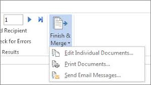 Word Mail Merge Mail Merge Using An Excel Spreadsheet Office Support