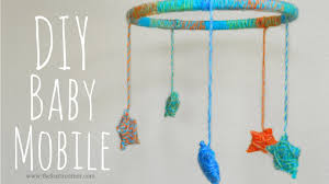 DIY Yarn Stars Baby Mobile