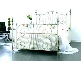 Wrought Iron Bed Frame Queen Frames King Style Beds Size White Metal Fr