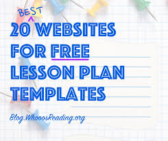 20 Best Websites For Free Lesson Plan Templates