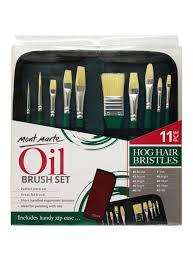Mont Marte Oil Brush Set Of 11