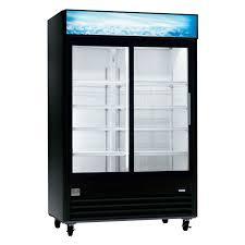 double sliding glass door commercial refrigerator husky appliances 2016