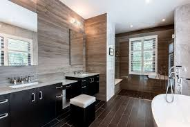 masculine bathroom wood and metal