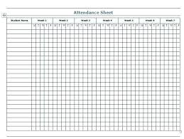 Sunday School Attendance Chart Free Printable Sunday School Attendance Sheet Template Xtech Me