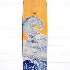 Birch Plywood Grade Chart Amazon Com Wooden Surfboard Growth Chart For Boys Baby
