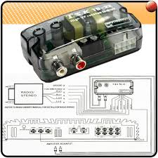 e sub amp boot install guide this is a high low converter it basicly gets wired into the rear speakers of your car and it takes in high mid and low sound and filters out the high and