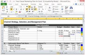 Marketing Budget Template Unique Free Channel Marketing Plan Template For Excel