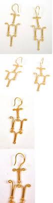 gold chandelier earrings beautiful earring findings 2 chandelier earrings ear wires jewelry 18k