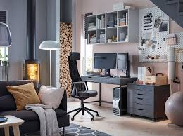 ikea desk furniture.  Desk Keep Calm And Game On In Your Home Office With Ergonomic JRVFJLLET Dark  Grey Swivel Armchair With Ikea Desk Furniture I