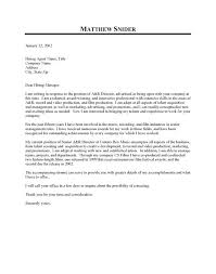 Executive Cover Letter Template A Simple Cover Letters Template Doc