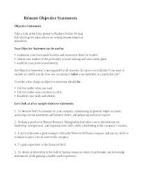 Best Career Objectives In Resume Best Of Job Objectives Examples For Resumes Professional Objectives For