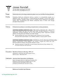 Cna Resume Templates Best Of Of Free Nursing Resume Builder - Free ...