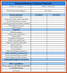 Income Statement Template For Service Company Barca