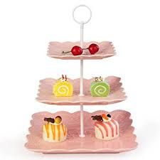 Cheesecake Display Stands Amazon Weddingwish 100 Tier Square Pink Porcelain Cupcake 74