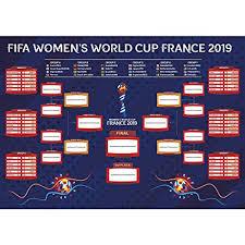 World Cup Tournament Chart Littleloverly 2019 France Womens World Cup Wall Chart Poster 16 X 24 Inches World Soccer Matches Football Tournament Schedule Soccer Calendar