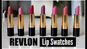 Revlon Super Lustrous Lipstick Colour Chart Revlon Super Lustrous Lipsticks Swatches Matte Creme