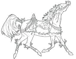 Rocking Horse Coloring Pages Printable Race Free Clydesdale Horses