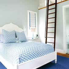 kids bedroom for girls blue. Blue Girls Bedroom Kids With Play Loft Fitted Ladder  Transitional For E