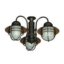 FL362ORB Nautical Outdoor Fan Light Kit - Oiled Rubbed Bronze 362 Styled Ceiling 3 Finish Choices
