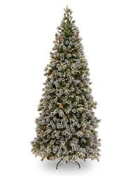 7ft Liberty Pine Slim Decorated Feel-Real Artificial Christmas Tree