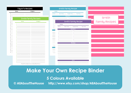 diy recipe book with free printable binder kit templates pics diy recipe book with free printable