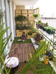 apartment balcony garden. Perfect Balcony A Small Balcony Has Been Converted Into An Oasis By Adding Lots Of Plants  In Wooden Containers Ceramic Pots Railing Planters Etc Inside Apartment Balcony Garden