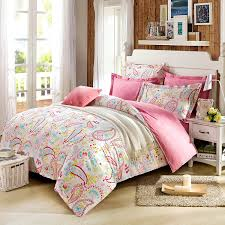 teen duvet cover. Amazon.com: Cliab Paisley Bedding Pink Twin Girls Duvet Cover Set 100% Cotton 5 Pieces(fitted Sheet Included): Home \u0026 Kitchen Teen T