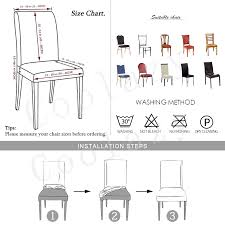 Slipcover Price Chart Us 1 59 55 Off Spandex Elastic Dining Chair Covers For Weddings Stretch Chair Slipcover For Office Banquet Kitchen Seat Cover Housse De Chaise In
